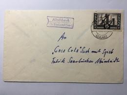 SAAR 1950`s Cover Alschbach To Saarbrucken - Covers & Documents