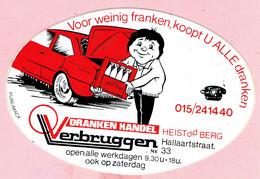 Sticker - Drankenhandel Verbruggen - Hallaartstraat Heist O/d Berg - Stickers