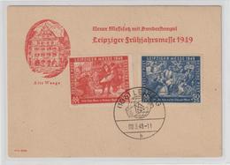SBZ Frühjahrsmesse 1949 Auf Illustrierter Messekarte - Soviet Zone