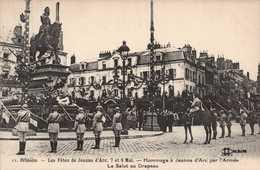 Dep 45 , Cpa ORLEANS , 11 , Fetes De Jeanne D'Arc , 7/8 Mai, Hommage à Jeanne D'Arc Par L'Armée , Le Salut .. (16461) - Orleans