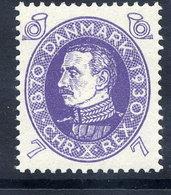 DENMARK 1930 Birthday Of King Christian X 7 Øre MNH / **.  Michel 186 - Nuevos