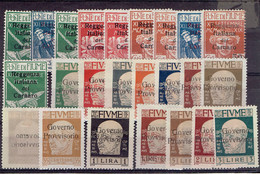 FIUME - LOT TP N° 114/9 - 121/2 - 125/6 - 132/145 X - 139 SURCHARGE RECTO VERSO - TB - 1920 - Italy