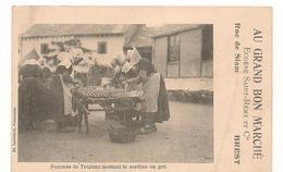 Brest - Rue De Siam -  Tregunc -  Femmes - Sardines En Grill -  CPA ° - Frankreich