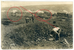 80 - Barensi ? - Équancourt - Etricourt Manancourt - Lager  -carte Allemande Photo-1914-1918 WWI  3-6 - France