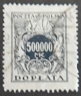 POLOGNE  TAXE YT 58 OBLITÉRÉ ANNÉES 1923/1924 - Impuestos