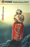 COCA-COLA * PEPSI SOFT DRINK * STAR WARS MOVIE CINEMA FILM * BB-8 BEEBEE-ATE DROID ROBOT * HALLOWEEN * MMK 596 * Hungary - Hongrie
