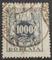 POLOGNE TAXE YT 49 OBLITÉRÉ ANNÉES 1923/1924 - Impuestos