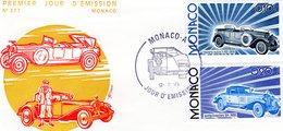 Monaco Envelope Premier Jour D'Emission - Hispano Suiza - Isotta Fraschini  -  Envelope 1er Jour 2v - Automobili