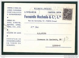 BILHETE POSTAL COMERCIAL - PORTO LIVRARIA FERNANDO MACHADO - PORTUGAL ( 2 SCANS ) - Porto