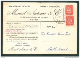 PORTO - POSTAL COMERCIAL ARMAZEM DE TECIDOS MANUEL ANTUNES - PORTUGAL - Porto