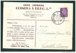 PORTO - COMERCIAL CASA COIMBRA - CARIMBO ESPINHO 1952 - PORTUGAL - Porto
