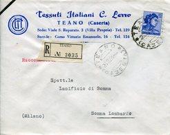 Italia (1964) - Raccomandata Da Teano (CE) - 6. 1946-.. Republik