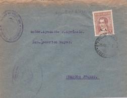 ARGENTINA ENVELOPE CIRCULATED 1935. BUENOS AIRES TO MARCOS JUAREZ, CORDOBA. OBLIT. MINISTERIO DE AGRICULTURA -LILHU - Argentina