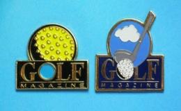2 PIN'S  //   ** GOLF MAGAZINE ** - Golf
