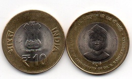 India - 10 Rupees 2015 AUNC / XF+ Radhakrishnan Lemberg-Zp - Inde