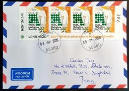 2020 Cover, Ulcinj Montenegro To Caritas Baghdad Iraq, 2019 The 150th Anniversary Of Birth Of Mohandas Gandhi - Montenegro
