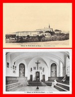 2 CPA (31) BELLEGARDE.  Abbaye De Ste-Marie-du-Désert, Vue Générale / Le Chapitre...K554 - Frankreich