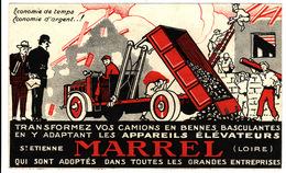 42 ST ETIENNE **Carte Publicitaire Ets MARREL Constructeur De Bennes Basculantes** 2 Scans - Saint Etienne