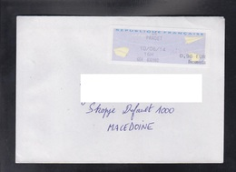 FRANCE, COVER / REPUBLIC OF MACEDONIA ** - 2000 «Avions En Papier»