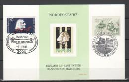 "1987 - Franz Liszt  Emissione Congiunta Germania/Ungheria X Nordposta""87 Serie Cpl.  2v. Su Cartolina Maximum - Emissioni Congiunte"