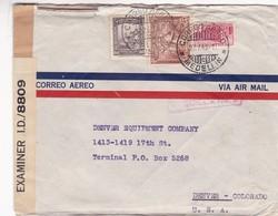COLOMBIA AIRMAIL CIRCULATED 1943. MEDILLIN TO DENVER, COLORADO, U.S.A.. EXAMINER -LILHU - Colombia