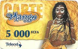 @+ Gabon - Telecel Mango 5000 FCFA - Femme (31/12/2001) - Gabon