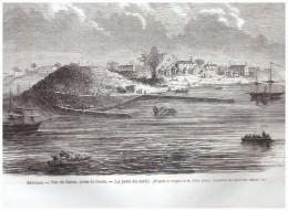 Gravure De  1865  ...senegal   Vue De Dakar    Pirse De Gorée   La Porte Nord - Unclassified