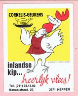 Sticker - CORNELIS-GEUKENS - Inlandse Kip...heerlijk Vlees! - Kanaalstraat HEPPEN - Stickers