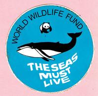 Sticker - WORLD WILDLIVE FUND - THESEAS MUST LIVE - Stickers