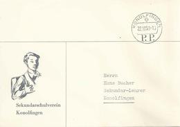 """Motiv Brief  """"Sekundarschulverein Konolfingen""""  (PP-Stempel)          1958 - Svizzera"""