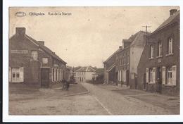 Ollignies Rue De La Station Oblitérée D'Ollignies En 1934 Editeur Preaux à Ghlin - Lessines