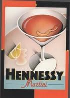 REF 451 : CP 16 Carte Publicitaire U.S.A. Cognac HENNESSY Martini - Autres Communes
