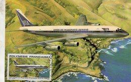 Polynesie Francaise -  Carte Maximum -  Douglas DC-8  - Carte Premier Jour D'Emission - Airplanes