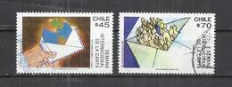 CHILE 1991 - INTERNATIONAL LETTER WEEK - CPL. SET - POSTALLY USED OBLITERE GESTEMPELT USADO - Chile