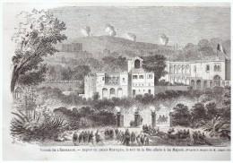 GRAVURE D Epoque    1865  VOYAGE DE L EMPEREUR ALGERIE ALGER Le Palais   De  Mustapha - Alte Papiere