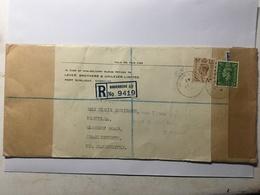 GB George VI Registered Birkenhead Cover Sunlight Birkenhead To Charlesworth Manchester - 1902-1951 (Kings)