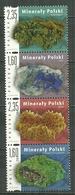 POLAND MNH ** 4326-4329 Minéraux De Pologne Sel Malachite Azuritz Marcassite Gypse - Nuovi