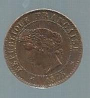 France - 1 CENTIME 1875 - Très Belle   -  Pieb22103 - A. 1 Centime