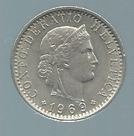 Suisse  Switzerland 20 Rappen 1969 -  Pieb22105 - Suisse