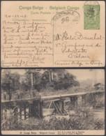 Congo Belge 1917 -Entier Postal 5 C En Carte Postale Nr. 10-Vue: Pont Lukula Dans Le Mayumbe ..........(DD) DC6147 - Entiers Postaux