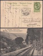 Congo Belge 1919 - Entier Postal 5 C En Carte Postale Nr. 49- Vue:  Bas Congo-Chemin De Fer................(DD) DC6154 - Entiers Postaux