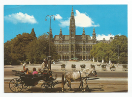 Vienna - Wien 1984, Rathaus Mit Fiaker - Miunicipio Con Carrozza Pubblica. - Altri