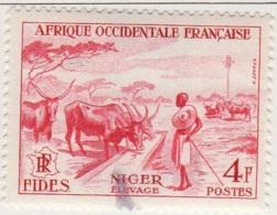 Afrique Occidentale Francaise 1956 FIDES Elevage YT 57 - Usati