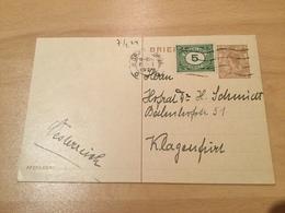 K8 Niederlande Ganzsache Stationery Entier Postal P 162 Von S'Gravenhage Nach Klagenfurt - Postal Stationery