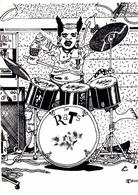 MOREAU Fabien   - Orchestre Punk  Les Rats Musique  Batterie -   CPM  10,5x15 TBE Neuve 300 Ex - Künstlerkarten