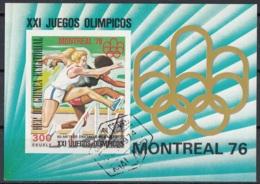 Guinea Equatoriale 1974 Bf. 224B XXI Olimpiade Montreal Atletica Corsa Ostacoli Sheet Imperf. CTO Ecuatorial - Estate 1976: Montreal