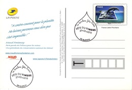 FRANCE 403 Entier Sur Carte Postale Illzach Haut-Rhin Fête Du Timbre 2010 Thème Eau Water Aqua Wasser [GR] - Pseudo-interi Di Produzione Ufficiale