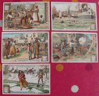 5 Chromo Liebig : La Case De L'oncle Tom. 1904. S 762. édition Française - Liebig