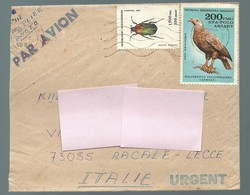 COVER LETTER MADAGASCAR TO ITALY Eagle Bird Insect - Madagascar (1960-...)
