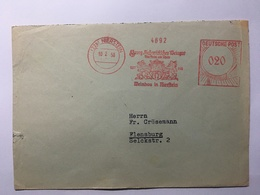 GERMANY 1950 Cover With Nierstein Meter Mark To Flensburg - BRD